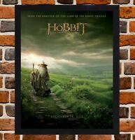 Framed The Hobbit Movie Poster A4 / A3 Size Mounted In Black / White Frame (R-1)