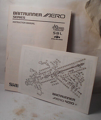 Shimano BAITRUNNER AERO - MANUAL / PAPERWORK Schematic- Fishing Reel PARTS  | eBay
