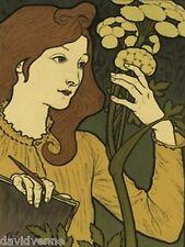 Salon des Cent by Eugene Grasset 9x12 inch image mono deluxe Needlepoint Canvas