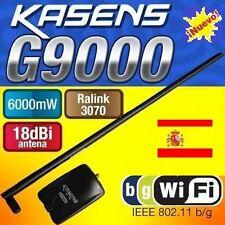 ★ANTENA WIFI KASENS G9000 6000MW 6W 18DBI RALINK 3070, ENVIOS DESDE ESPAÑA 24Hrs