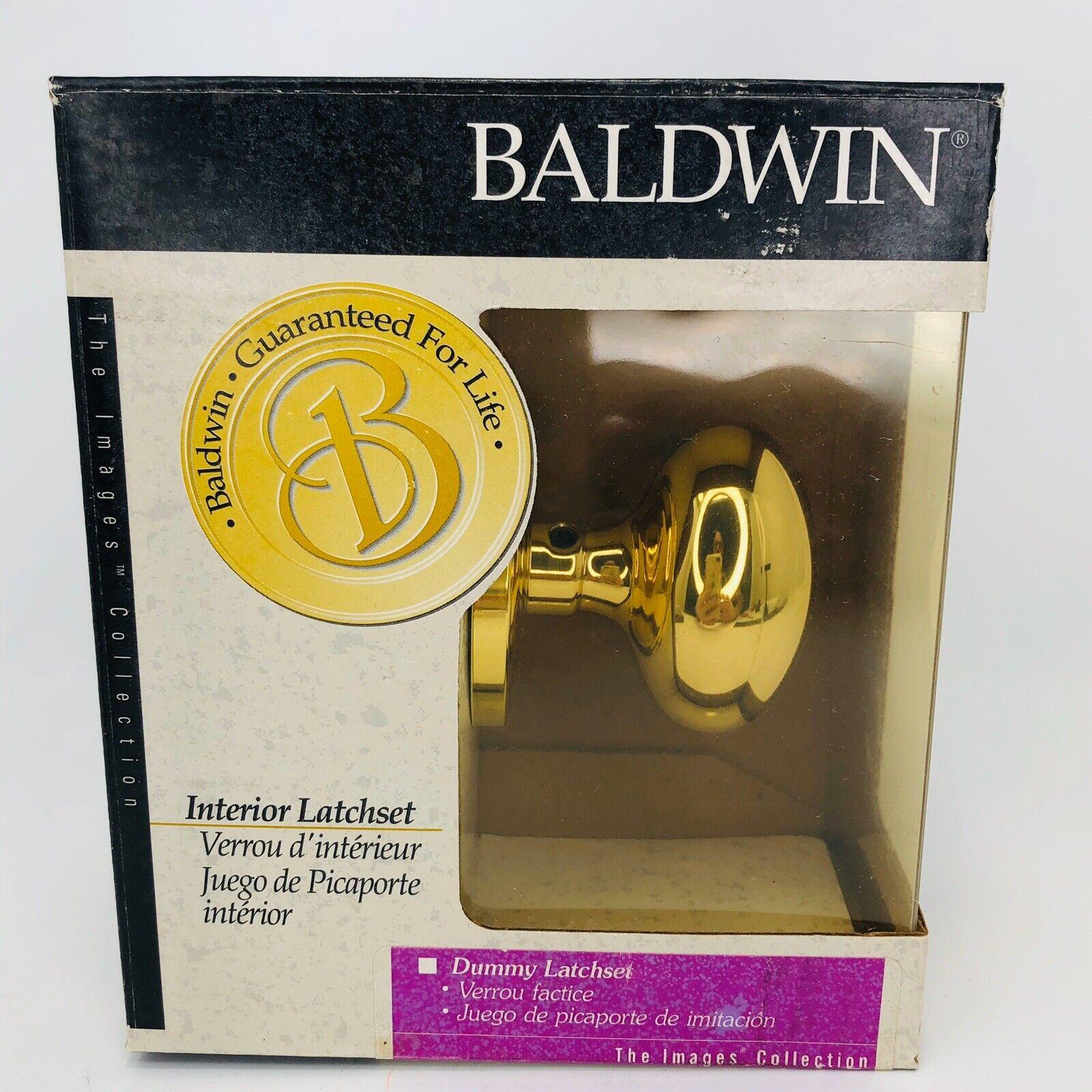 ONE BALDWIN BRASS ESTATE 5000-003 Polished Brass Passage Door FULL DUMMY SET