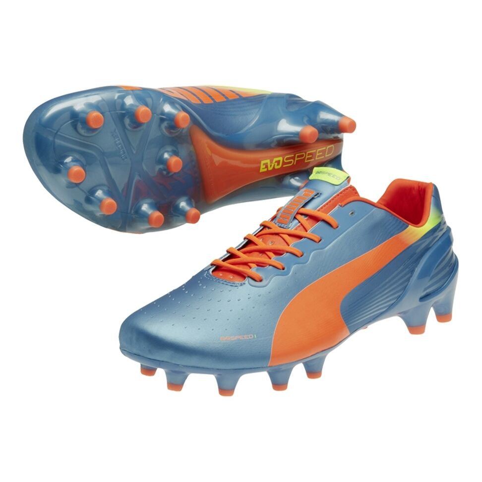 PUMA Men's evoSPEED 1.2 FG Soccer Cleats shoes,bluee,US 7        (D46-PS)