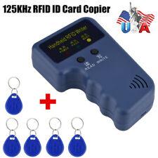 Handheld Rfid Id Card Copier Key Reader Writer Duplicator 125khz5pcs Tags Us