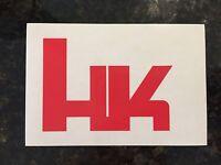 Red Hk Logo Decal Sticker Heckler & Koch Hk416 Mr556 Mr762 P30 Usp P7 Vp9 Hk45