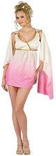 Sexy Venus Pink Cream Ombre Short Greek Goddess Adult Costume Dress Size S/M 2-8