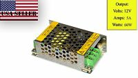 Led Regulated Transformer Power Supply Dc 12v 5a 60w Usa Fast Shipping