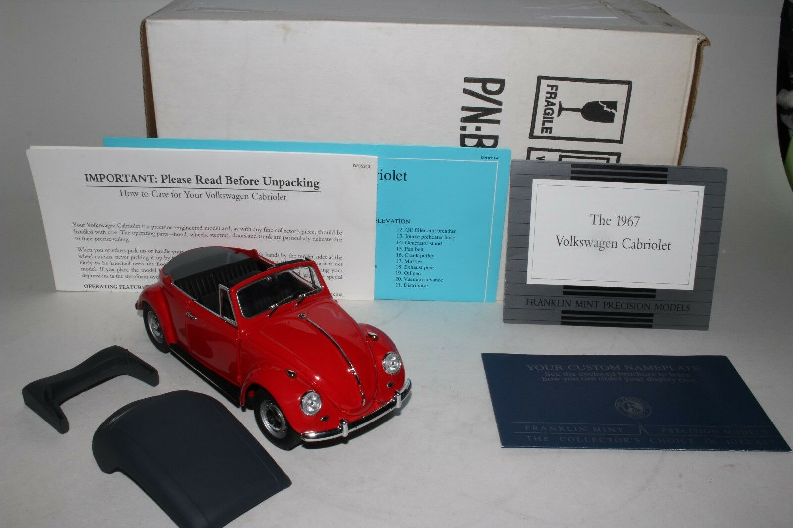 Franklin Mint 1967 Volkswagen Congreenible Model,  Boxed