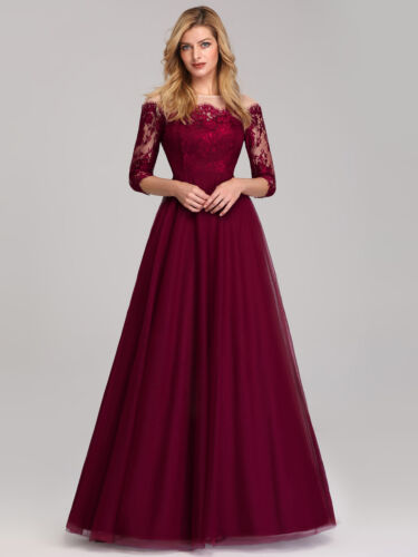 Ever-Pretty Elegant Lace Long Bridesmaid Dresses Cocktail Evening Prom Gown 7894