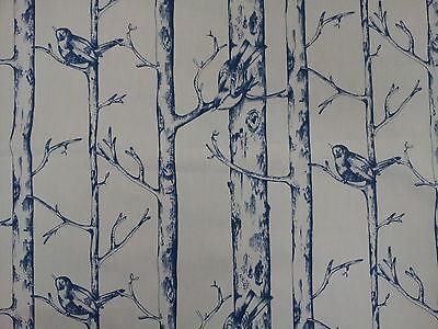 Prestigious Jenny Wren Porcelain Blue Bird Design Fabric