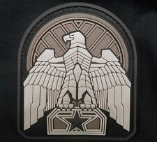 INDUSTRIAL EAGLE 3D PVC TACTICAL BADGE US ARMY MORALE SWAT DARK OPS HOOK PATCH