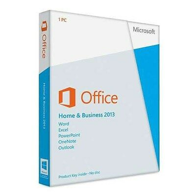 Microsoft Office Home and Business 2013 Medialess T5D-01575