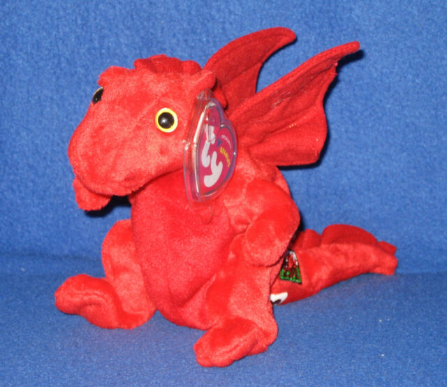 ORIGINAL VERSION TY Y DDRAIG GOCH the DRAGON BEANIE BABY - UK EXCLUSIVE  with TAG 0510127df8a9