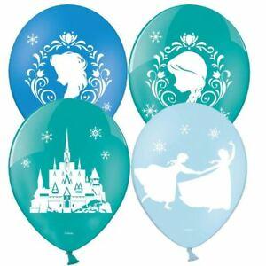 6pk-Disney-Frozen-Latex-11-034-Ballons-6pk-Anna-Elsa-Anniversaire-Decorations-de-fete