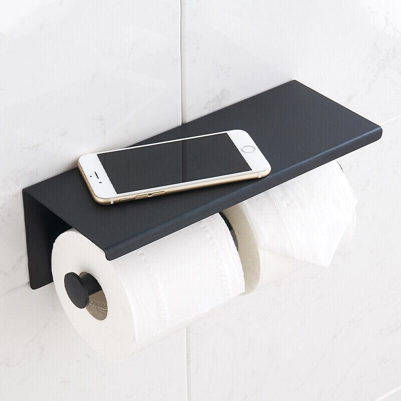 Orren Ellis Speight Double Wall Mounted Toilet Paper Holder Matte Black For Sale Online Ebay