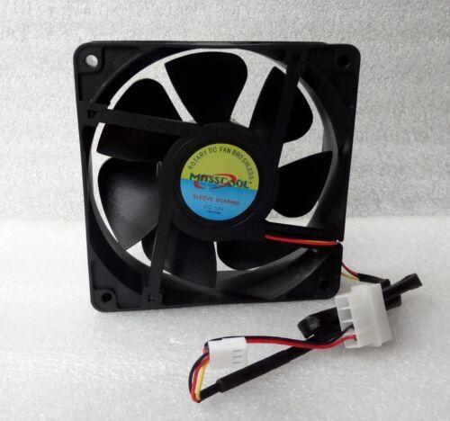 NEW Masscool 120mm x 38mm High Airflow Fan 107 CFM 3 Pin//4 Pin w// Speed Control