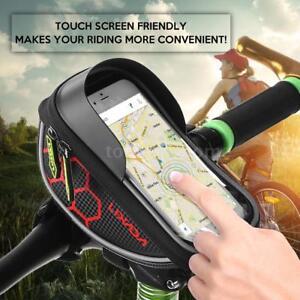 Waterproof Bicycle Bike Cycling Front Frame Tube Handlebar Bag Mobile Phone B8E5