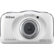 Nikon COOLPIX W100 13.2MP Digital Camera, Water/Shock/Freeze & Dustproof - White