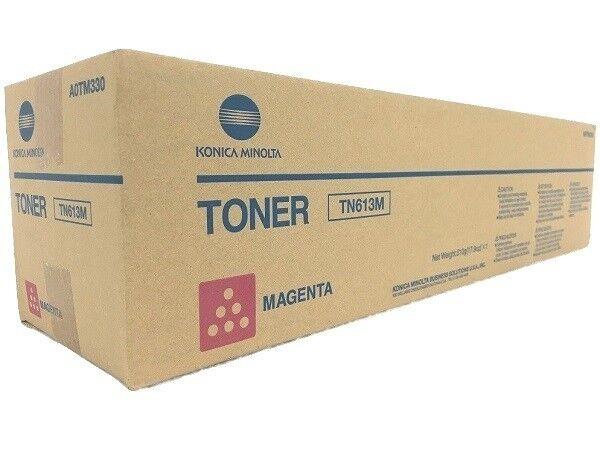 Konica Minolta Genuine TN613M Magenta Toner A0TM350 Bizhub C452 C552 C652 TN613