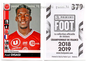 "Rare!!! sticker rookie axel disasi ""french panini foot 2018-2019"""