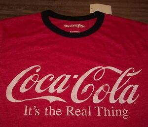 VINTAGE-STYLE-COCA-COLA-It-039-s-The-Real-Thing-COKE-SODA-T-Shirt-MEDIUM-NEW