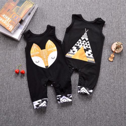 EG/_Säugling Baby Jungen Mädchen Kinder Fuchs Strampler Body Kleidung Outfits