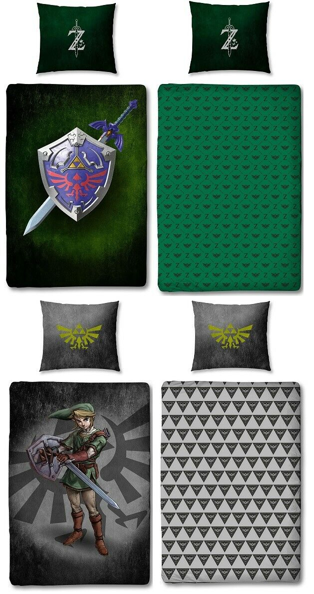 The Legend of 100% Zelda biancheria da letto 100% of COTONE 135x200 80x80  link Hyrule Spada 6c8ac9 53fb0953ecc