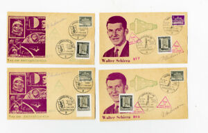 Germany-Covers-4x-1963-Rocket-Flights-w-stamps-signed-by-Pilot