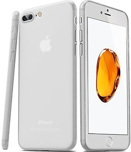 finest selection 46923 bb9bd Details about TOZO Ultra Slim Case iPhone 7 Plus Protective Thin Cover  Transparent Matte White