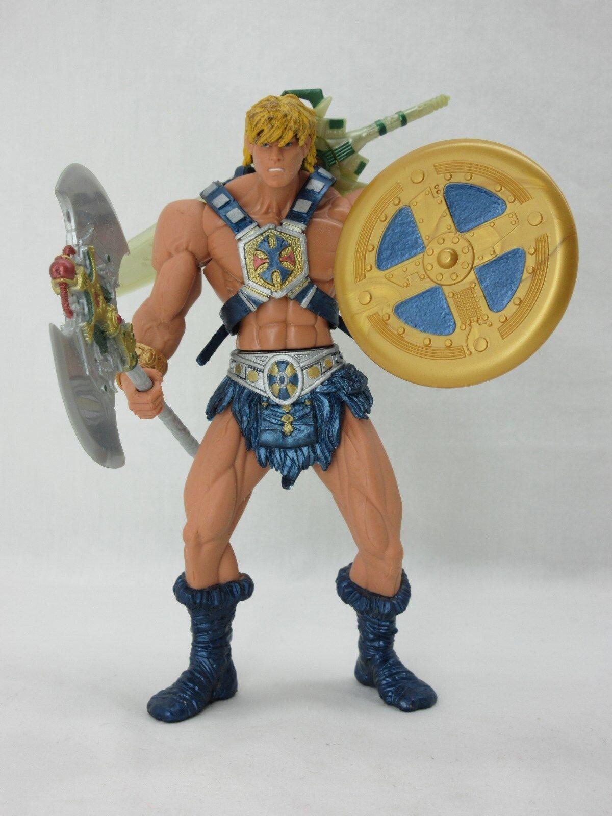 MOTU,HE-MAN,200x,figure,Sword,Shield,Ax,Masters of the Universe,He Man