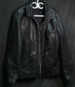 2ad5dc877 Roots Men's Black Leather Jacket - Large   eBay