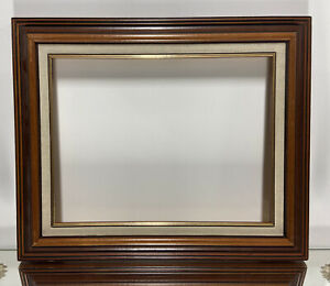 VTG-Mid-Century-Wood-Picture-Frame-Fits-10-034-x-13-034