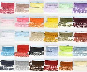 La-Stephanoise-15mm-Cotton-Cluny-Crochet-Lace-Ribbon-36-Colours