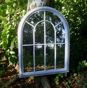 spiegel fenster 89cm hoch antik landhausstil spiegelfenster garten loft metall ebay. Black Bedroom Furniture Sets. Home Design Ideas