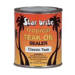 Starbrite 88016 Classic Teak Tropical Teak Oil Sealer 16oz