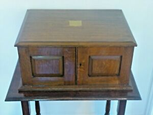 Antique-Boxed-91pc-Part-Silver-Plate-Dinner-Service-In-Three-Drawer-Oak-Cabinet