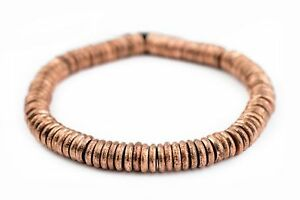 Copper-Donut-Beads-10mm-Ring-Large-Hole-10-Inch-Strand