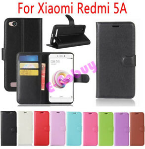 release date: dd8cb 2e0e0 For Xiaomi Redmi 5A PU Leather Flip Cover Slots Wallet Stand Case ...