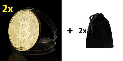Nouveau Plaqué Or Bitcoin Porte-Clés Keychain cadeau SOUVENEIR livraison rapide UK Stock