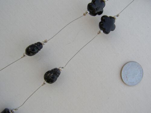 Olivia rideau de perles noir tiebacks-Paire-salon et chambre