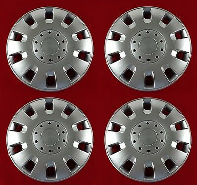 4 x 13 INCH CAR WHEEL TRIMS , COVERS / HUB CAPS - UNIVERSAL - ALLOY LOOK - NEW