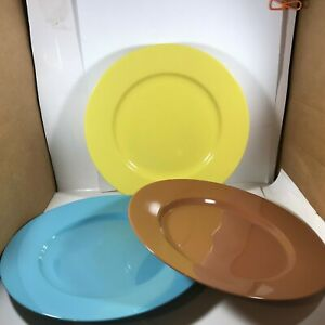 Lot-of-3-FITZ-amp-FLOYD-Total-Color-Spectrum-Dinner-Plates