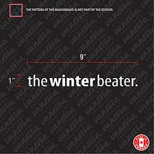 2X THE WINTER BEATER car sticker decal vinyl