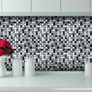 3d Tile Brick Mosaic Wallpaper Sticker Self Adhesive Kitchen