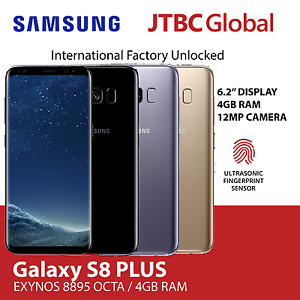 New Samsung Galaxy S8 Plus G955FD Dual Sim 6.2 Inch 12MP 64GB Factory Unlocked