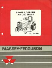 Massey Ferguson Mf 626 Riding Mower Parts Manual New 651 366 M91 For Sale Online Ebay