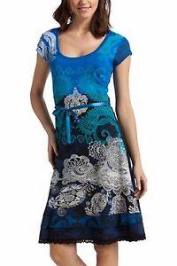 Desigual kleid blau turkis