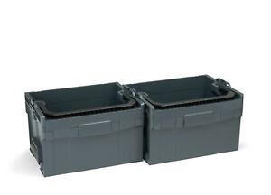 boxx-lt-272-2er-Set-bosch-sortimo-werkzeugkoffer-leer-offen-anthrazit