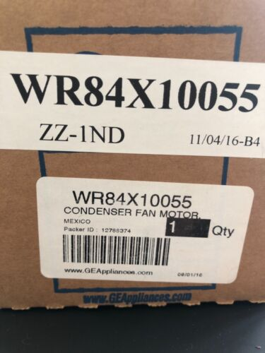 NEW OEM GE Refrigerator CONDENSER FAN MOTOR WR84X10055