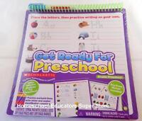 Scholastic Get Ready For Preschool Dry Erase Spiral Pad Homeschool Classroom
