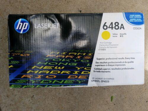 ONE GENUINE HP CE262A 648A YELLOW OEM TONER CARTRIDGE Laserjet CP4025 CP4525